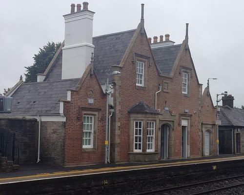 Relcaimed Blue Bangors Sallins Train Station